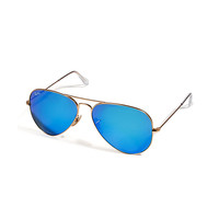Ray-Ban - Arista Aviator Large Metal Mirrored Sunglasses