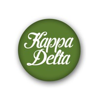 Kappa Delta Sorority Spirit Button - Script
