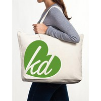 Kappa Delta Canvas Tote Bag - Heart