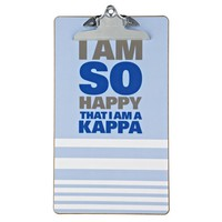 Kappa Kappa Gamma Sorority Clipboard - So Happy