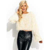 Festive N Furry Cropped Sweater - GoJane.com
