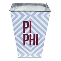 Pi Beta Phi Sorority Wastebasket - Stacked