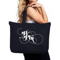 Pi Beta Phi Canvas Tote Bag - Struck