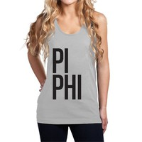 Fine Jersey Pi Beta Phi Tank - Stacked