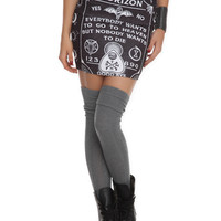 Bring Me The Horizon Ouija Board Contour Skirt