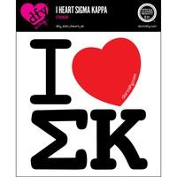 I Heart Sigma Kappa Sticker