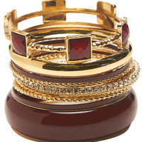 Shimmer Faceted Bangle Set | Wet Seal
