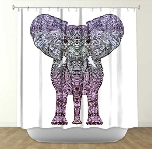 Http Wanelo Com P 9259942 Aztec Purple Elephant Shower Curtain Artistic Designer From Dianoche Designs By Arist Monika Strigel Home Decor And Bathroom Ideas