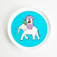 turquoise indian caravan plate, 8 inches x 1 inch | smiling planet
