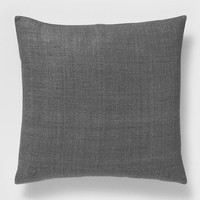 Solid Silk Hand Loomed Pillow Cover - Slate