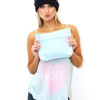 WILDFOX Wildfox Love Cami in Crystal Blue