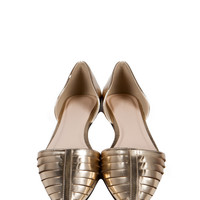 On Point Leather Flats - Gold