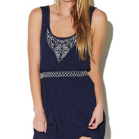 Embroidered Smocked Waist Dress | Wet Seal