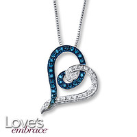 Love's Embrace Necklace 1/4 ct tw Diamonds Sterling Silver
