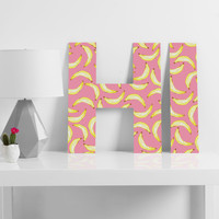 Lisa Argyropoulos Gone Bananas In Pink Decorative Letters