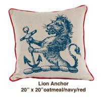 www.roomservicestore.com - Lion Anchor Oatmeal / Navy / Red