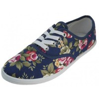 Womens Canvas Shoes Lace up Sneakers 18 Colors Available