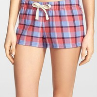 BP. Undercover 'Sleep In' Plaid Drawstring Shorts (Juniors) | Nordstrom