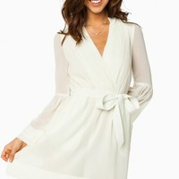 ROREY WRAP DRESS IN IVORY
