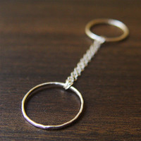 Double Chain Silver Ring