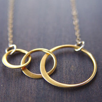 Interlocking Circle Gold Necklace