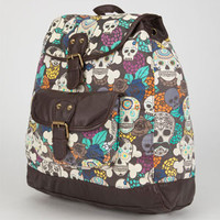 T-SHIRT & JEANS Multi Skull Backpack