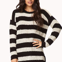 Cozy Marled Striped Sweater