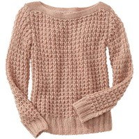 Sparkle open-stitch sweater