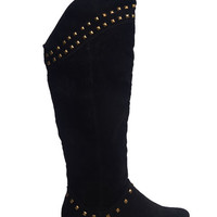 Studded Tall Fashion Boot | Wet Seal