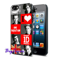 I Love One Direction - iPhone Case - iPhone 4 iPhone 4s - iphone 5 - Samsung S3 - Samsung S4