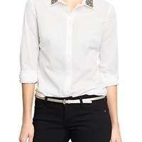 Women's Embellished Collar Shirts
