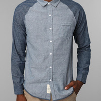 Native Youth Contrast Chambray Button-Down Shirt - Urban Outfitters