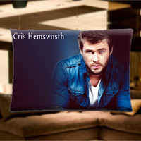 "Chris Hemsworth Pillow Case Cover Bedding 30"" x 20"" Great Gift"