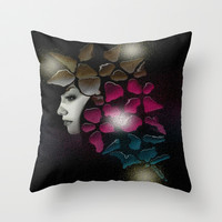 Shine Throw Pillow by Müge Başak