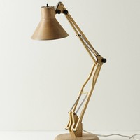 Rubberwood Desk Lamp