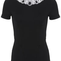 Embellished Neck Tee - View All - New In