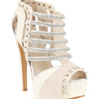 Presley Diamonte Heel - Heels - Shoes