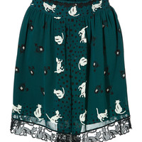 Anna Sui - Cat Print Skirt