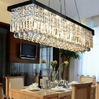 "8 Light 40"" Contemporary Crystal Chandelier"