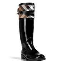Burberry London - Rubber Boots with Check Trim