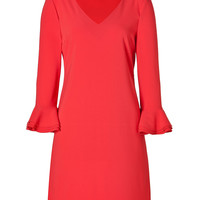 Moschino C&C - Flare Cuff Dress red