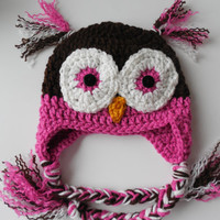 Owl Baby Girl Hat