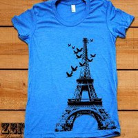 Womens Eiffel Tower T-Shirt - Zen Threads