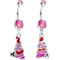 Sweet Bitches Cupcake Best Friends Belly Ring Set | Body Candy Body Jewelry