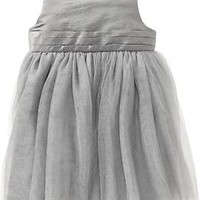 Pleated-Chiffon Sleeveless Dresses for Baby