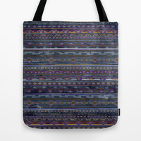 VINTAGE TRIBAL PATTERN Tote Bag by Nika