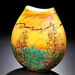 Sedona Vase: John & Heather Fields: Art Glass Vase - Artful Home