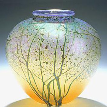 Sunrise Landscape Vase - Medium Pueblo: Peet Robison: Art Glass Vase - Artful Home
