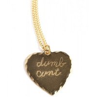 DUMB CUNT HEART NECKLACE