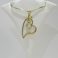 Ring Link Heart Pendant Necklace